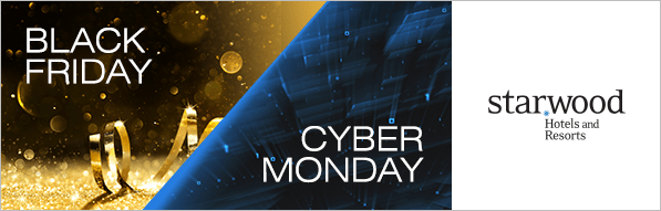 Incredible deals at Starwood Hotels for Black Friday and Cyber Monday!