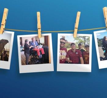 Accessible travel polaroid photos.