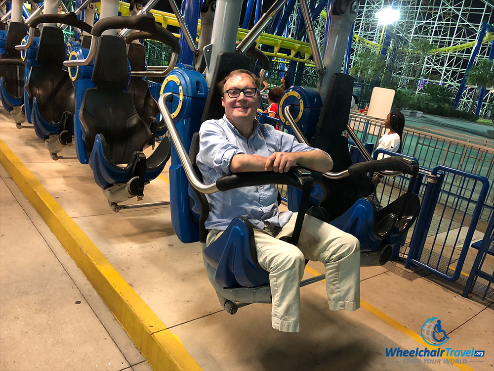 Photo after riding on the Freedom Flyer at Fun Spot Orlando.