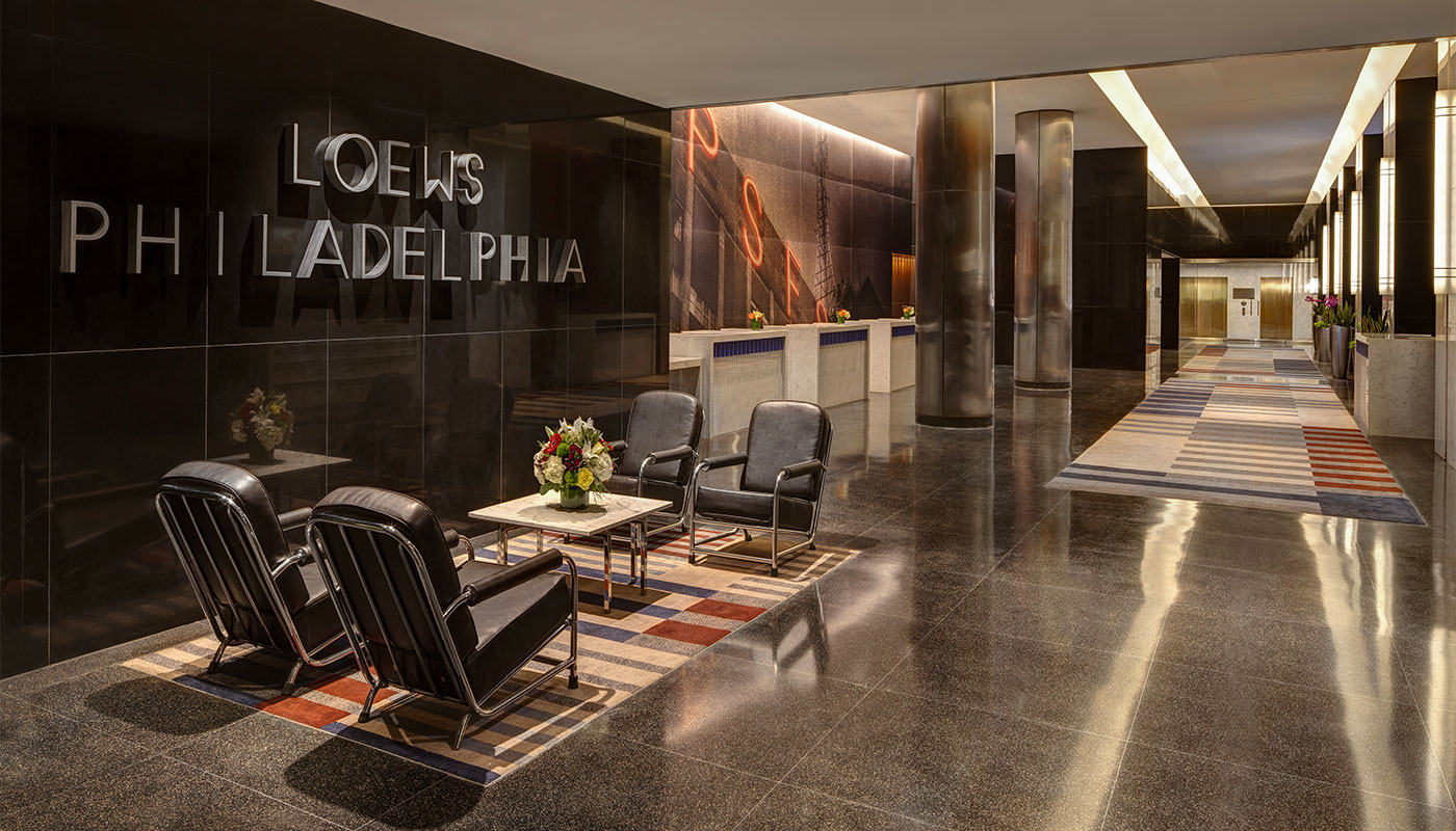 Loews Philadelphia Hotel is wheelchair accessible.