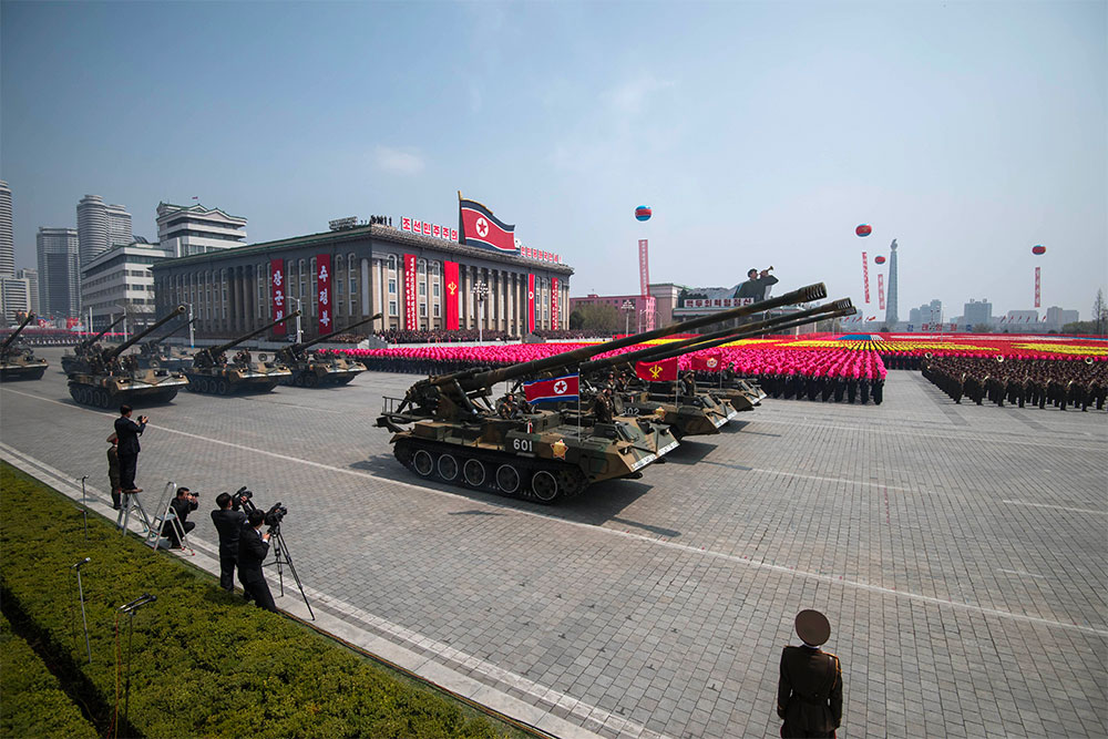 Military parade in North Korea in 2017.   Photo courtesy The INQUIRER.