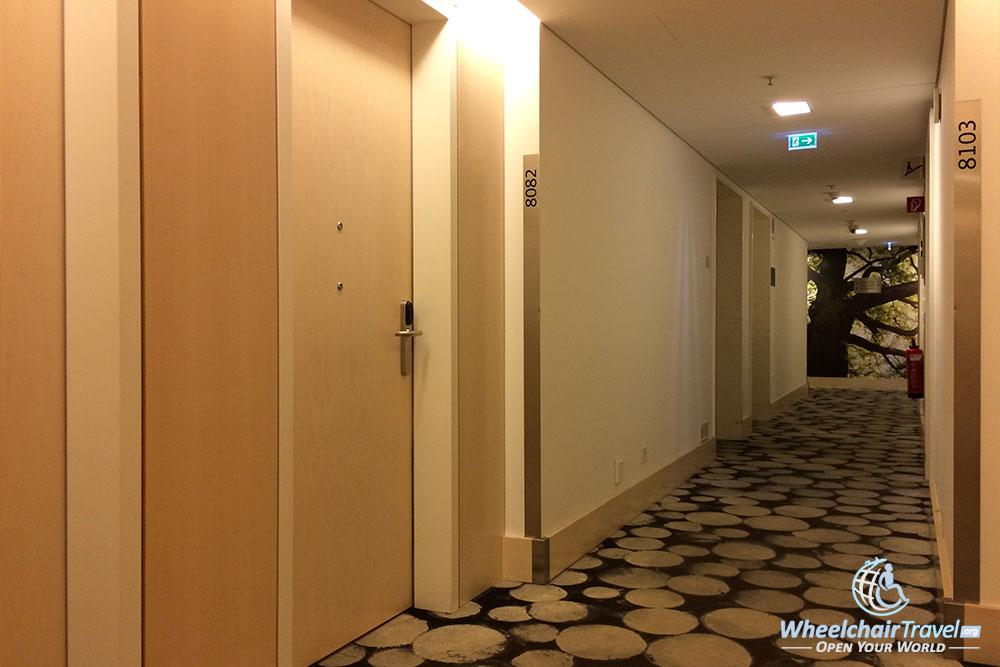 Guest floor hallway, door to room #8082 pictured.