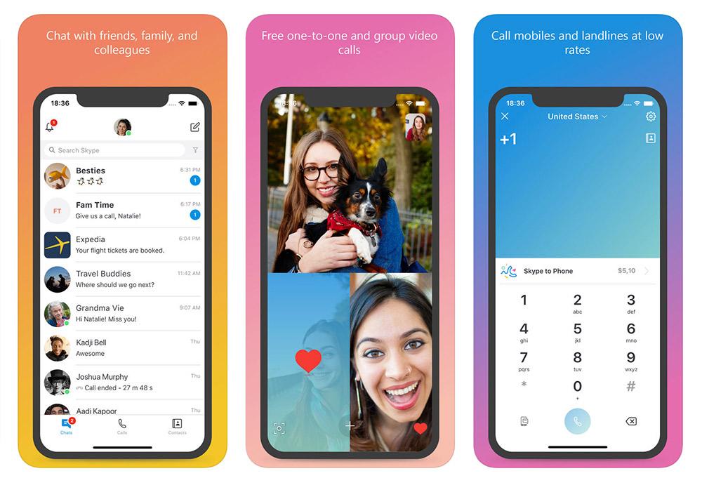 تطبيق Skype - تطبيقات المحادثة