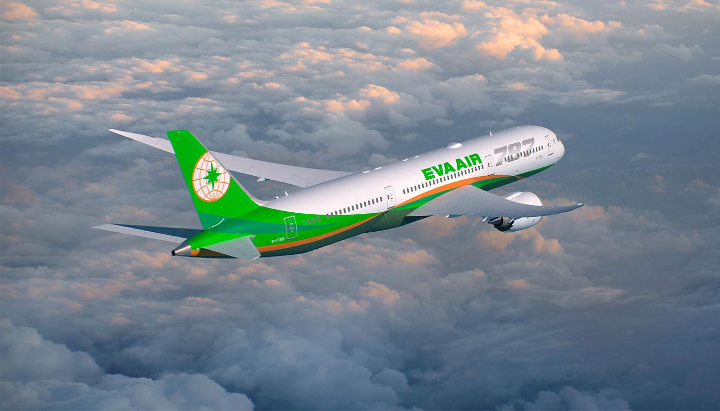 EVA Air Boeing 787-9 aircraft.
