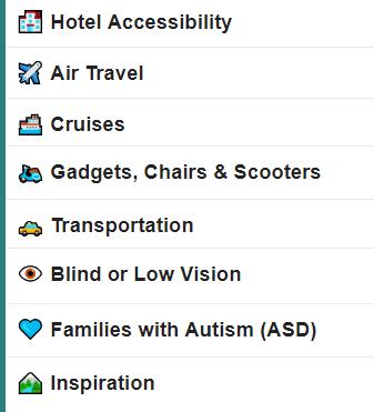 accessibleGO Travel Forum categories.