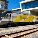 Wheelchair accessible Brightline train in Florida.