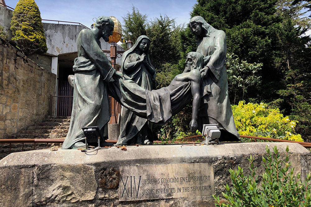 Station 14: Jesus is placed in the sepulcher.