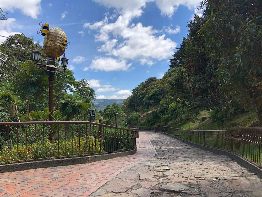 Pathway on Monserrate Hill.