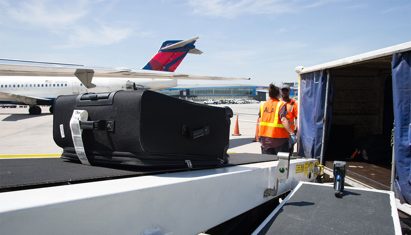 Airline baggage loading. Image courtesy of Delta Air Lines.