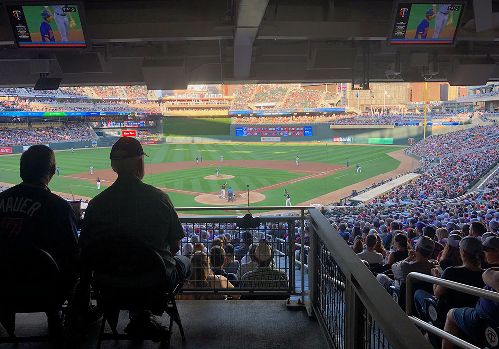 ADA seats behind home plate, section 115.