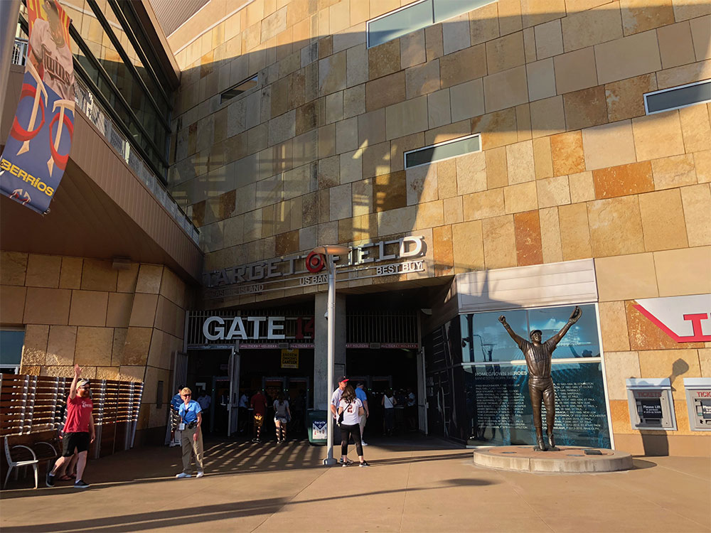 Gate 14 entry at Target Field.