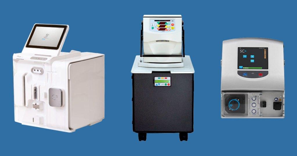 Portable dialysis machines.