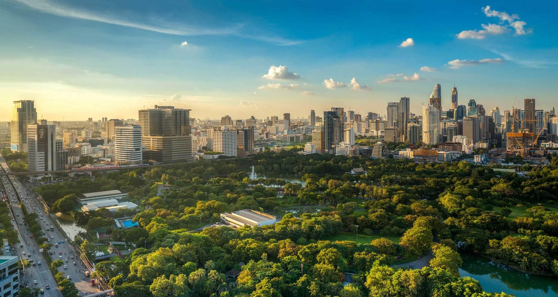 Bangkok, Thailand skyline.