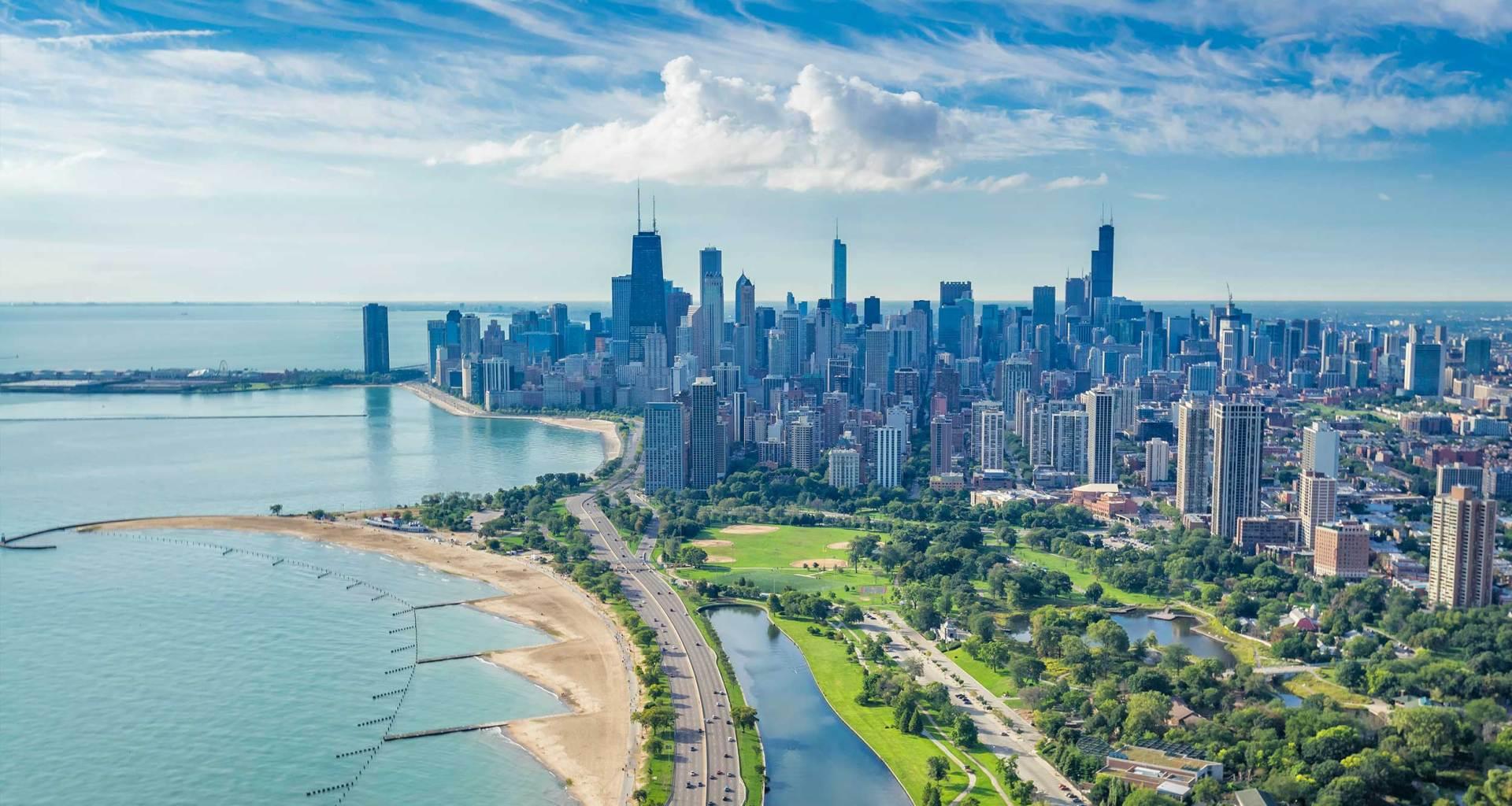 Chicago, Illinois skyline.