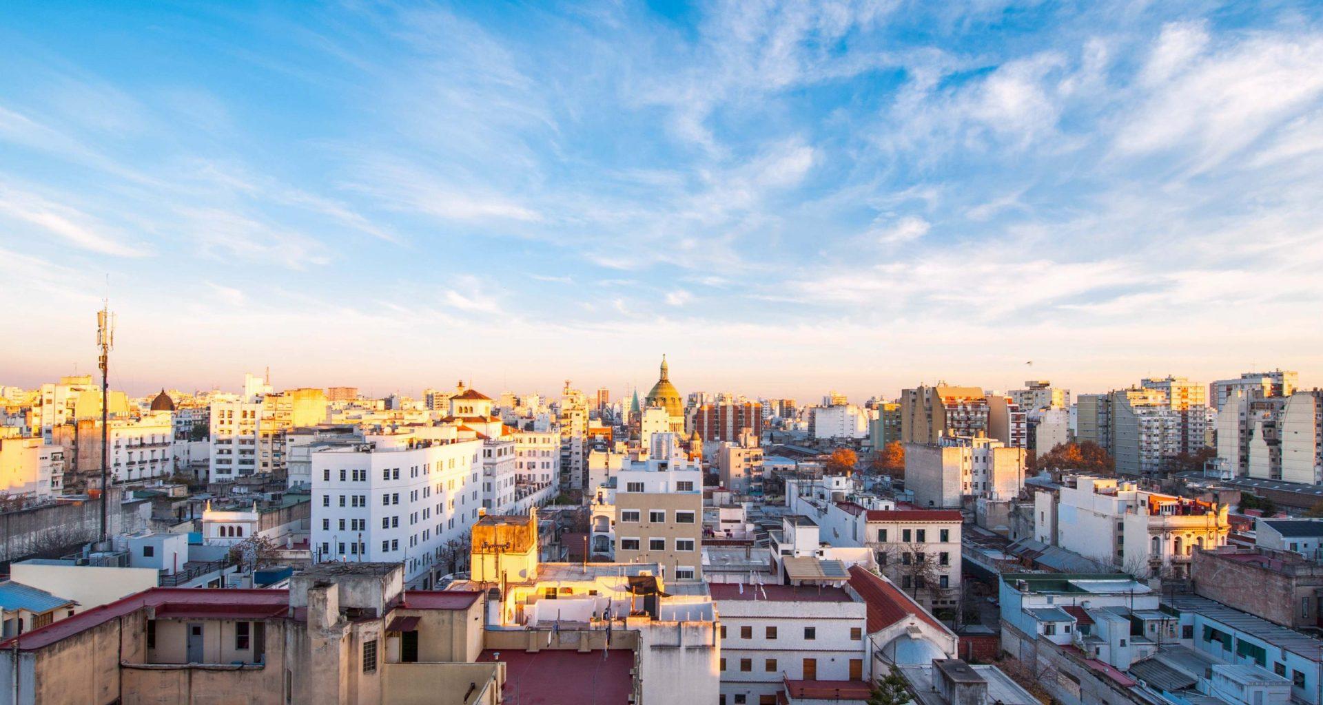 Partial Buenos Aires city skyline.