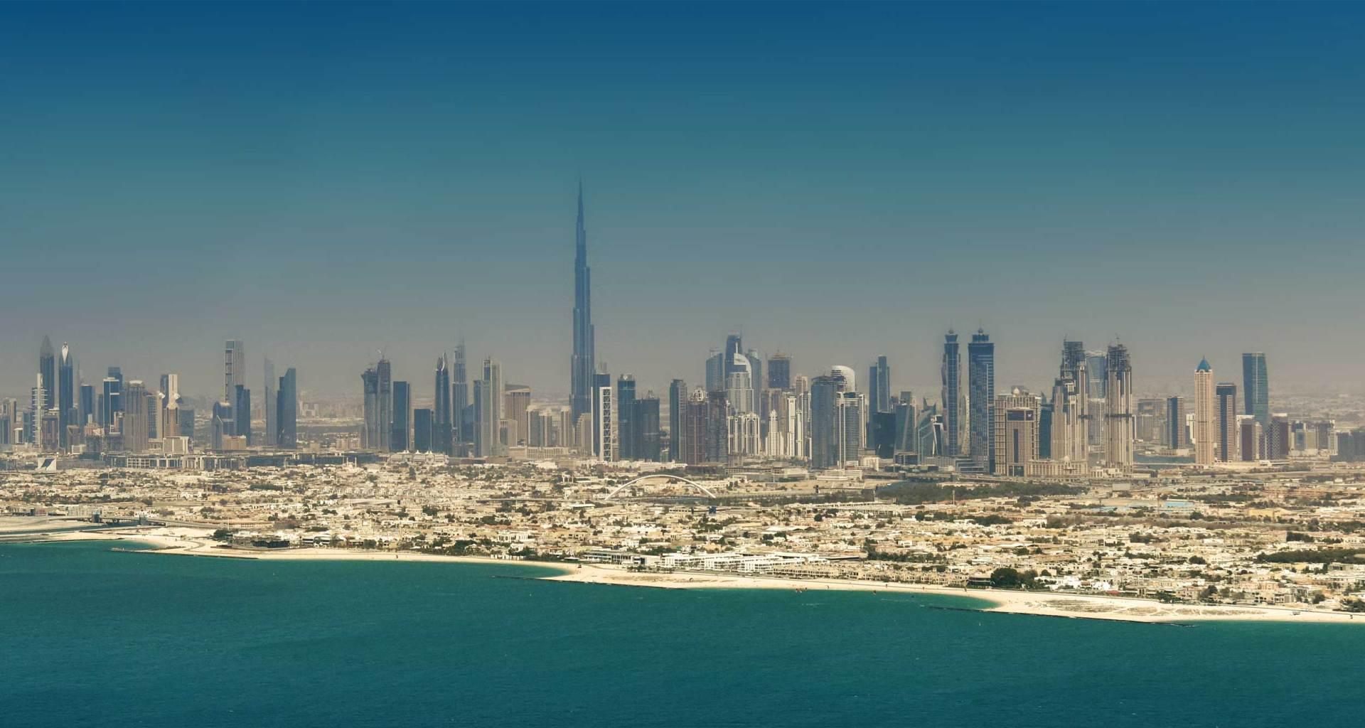 Dubai, United Arab Emirates skyline.