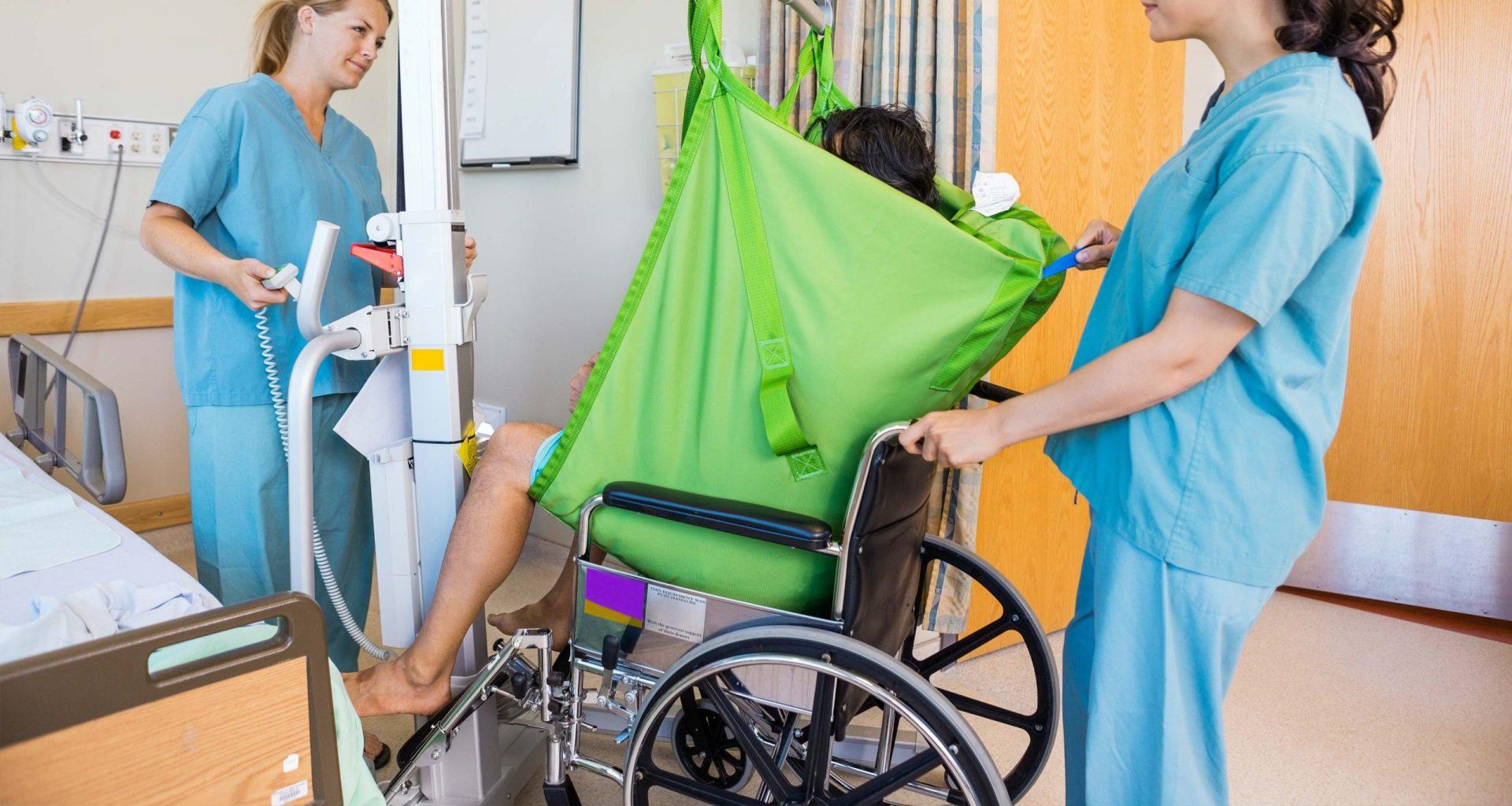 Patient transfer lift.