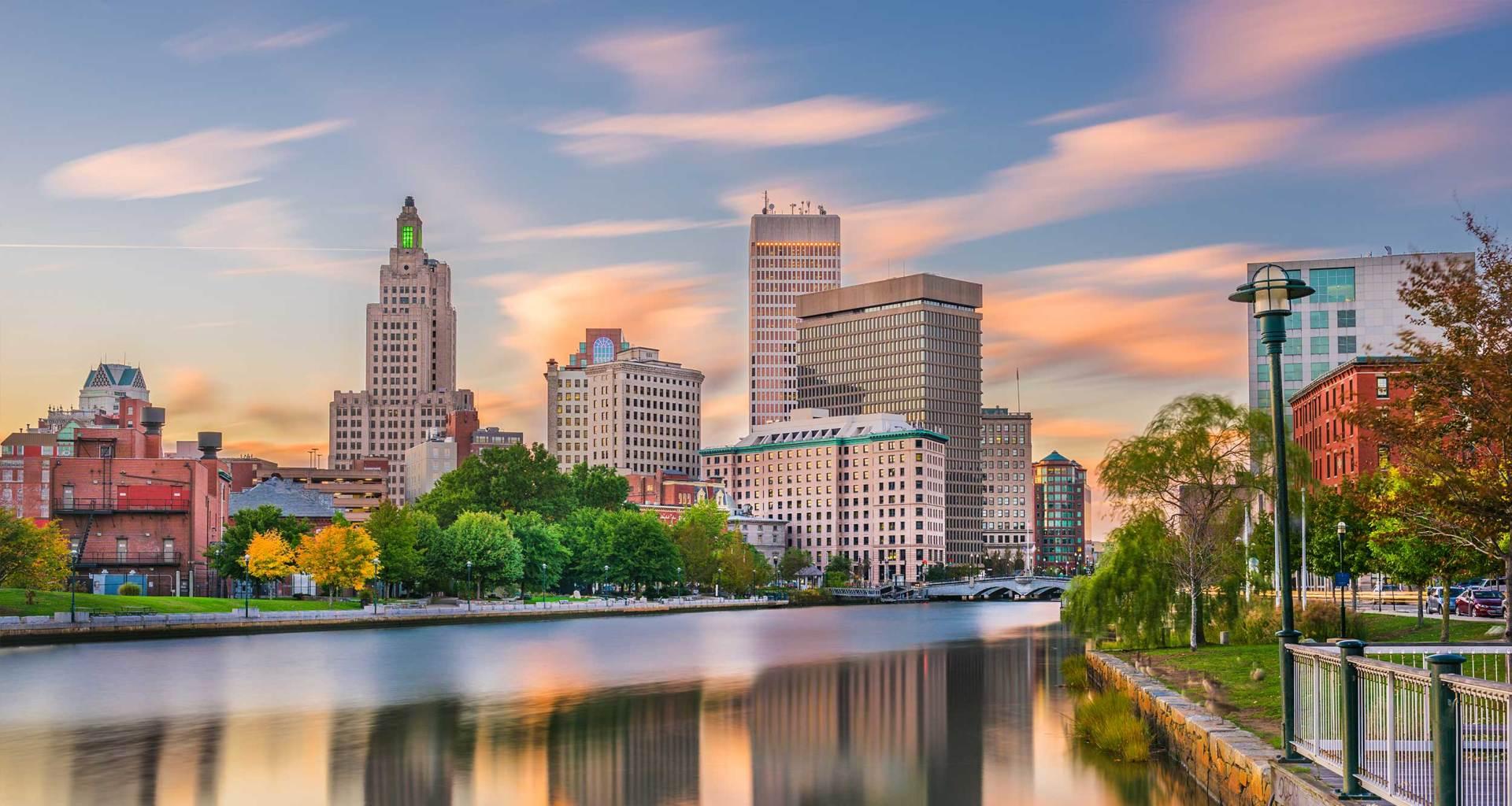 Providence, Rhode Island skyline.