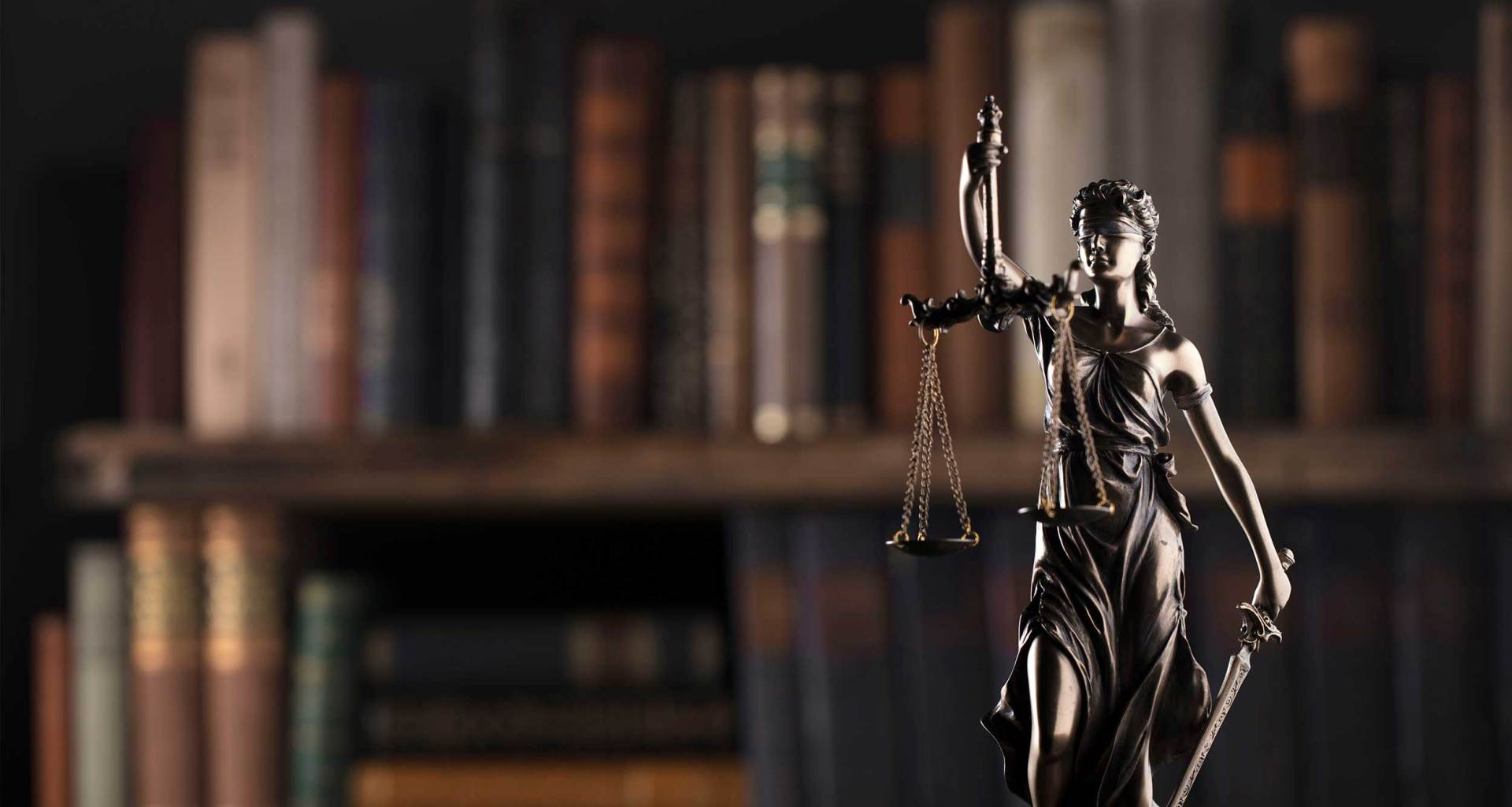 Scales of justice in law firm.