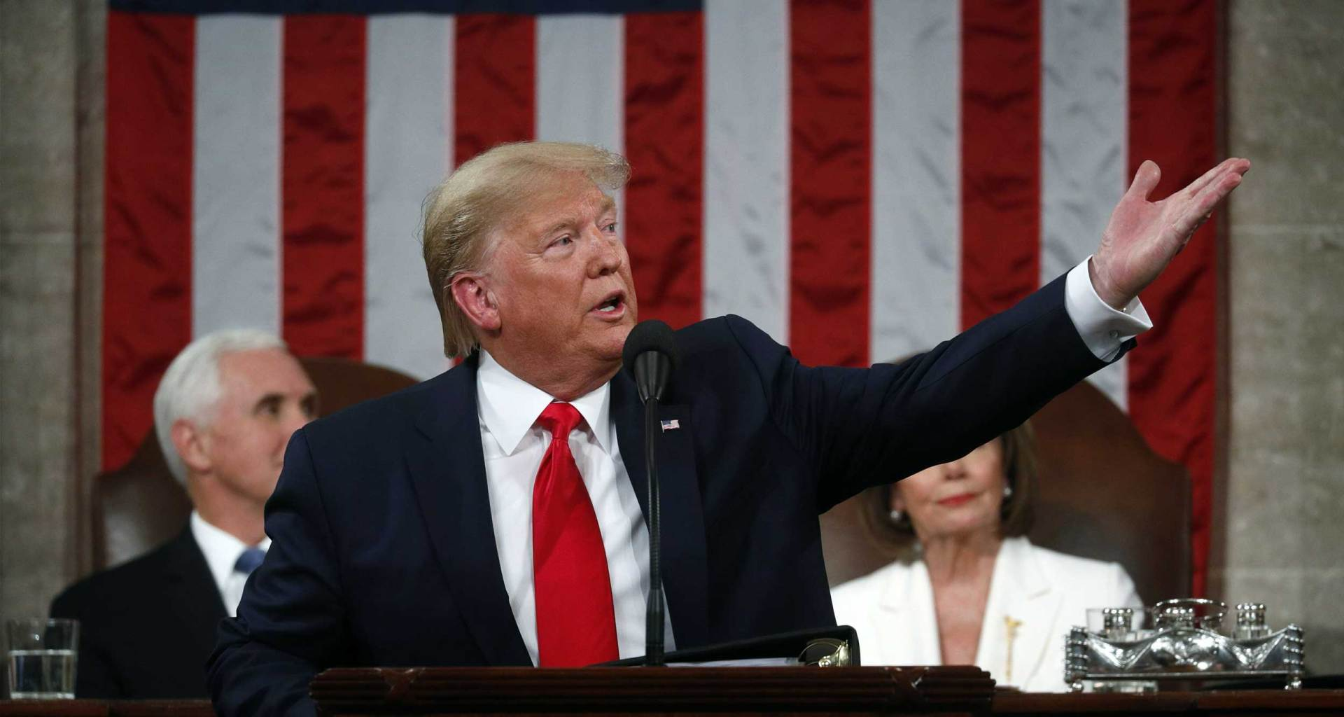 President Donald Trump at the 2020 State of the Union.