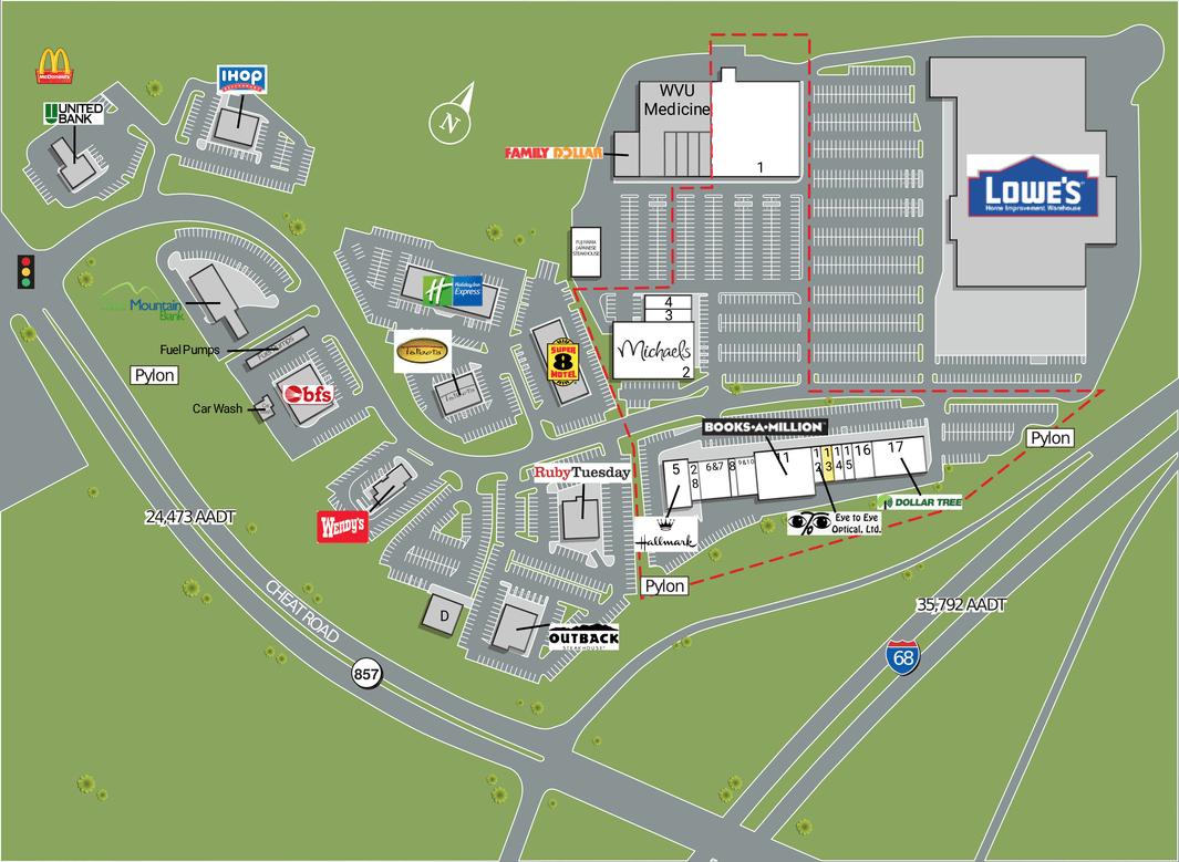 Morgantown Wv Pierpont Centre  Retail Space For Lease
