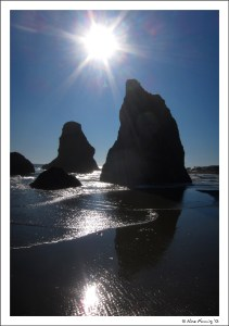The stunning Bandon sea stacks