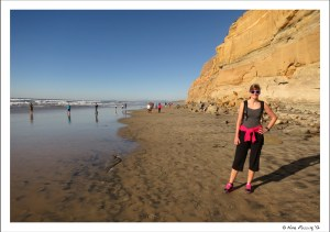 My cousin Christina poses by Torrey Pines