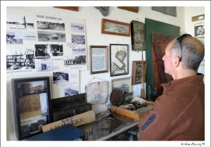 Paul checks out history notes at the Gold Rock Ranch