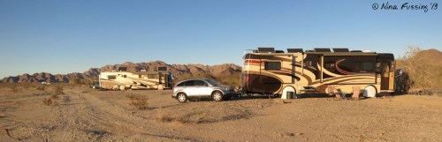 Boondocking w/ buddies. That's us, Alex&Ellen (behind) and Watson's Wonder in the far background