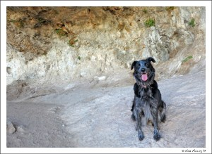 Polly poses in Wind Cave
