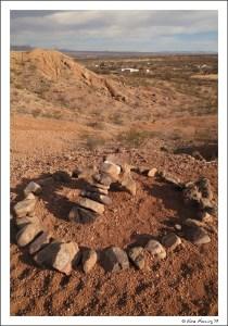 A random ring in the desert