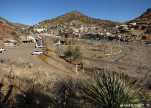 Lovely views of Bisbee from the right-side of the park