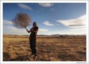 LOTS of tumbleweeds out here....and a very creative shot by Paul.