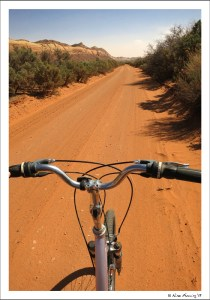 Biking at our boondocking site