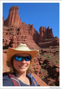 Lost but happy at Fisher Towers