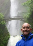 The massive Multnomah Falls