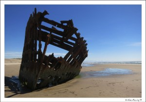 Totally new spot, totally new view. The 1906 wreck of Peter Iredale at Fort Stevens beach
