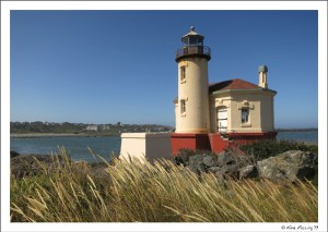 """Our """"office"""" for July/Aug. Lovely Coquille River Lighthouse!"""