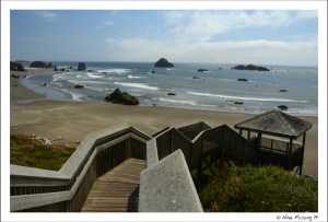 Our new backyard. Lovely Bandon beach!