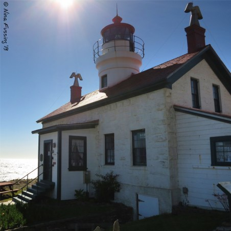 Backlit view of the Lighthouse