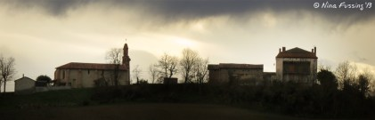 The little village of Canens in silhouette