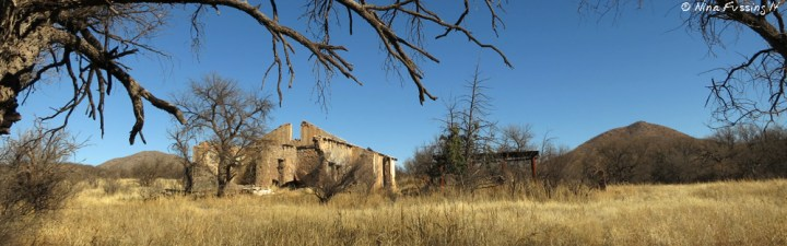 Abandoned ranch on Arivaca Creek Trail