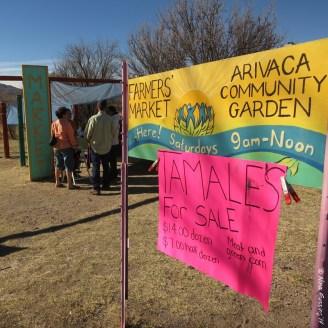 Winter farmers market in the mini town of Arivaca, AZ