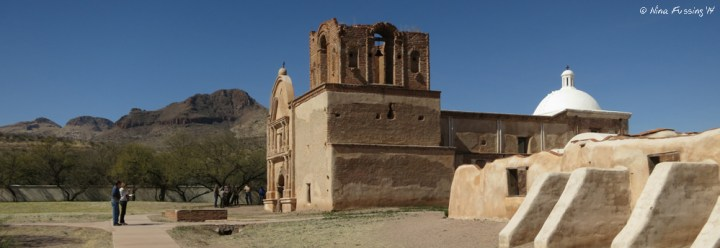 Side view of Tumacacori Mission