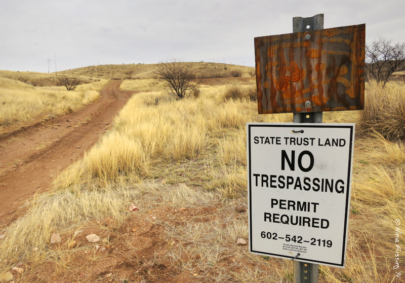 Arizona state trust land sign