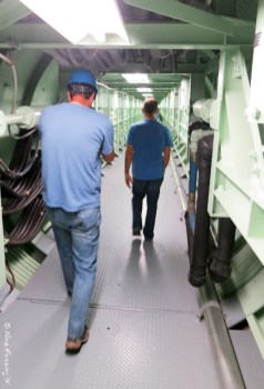 Tim & Paul heading down the corridor to the missile silo