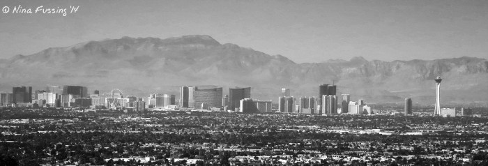 Panorama of the famous Vegas Strip