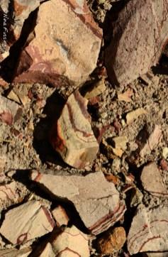 Millions year-old swirls of rock