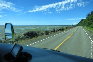 Driving north on Hwy 101 in WA