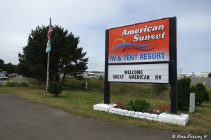 Entry to American Sunset RV & Tent Resort